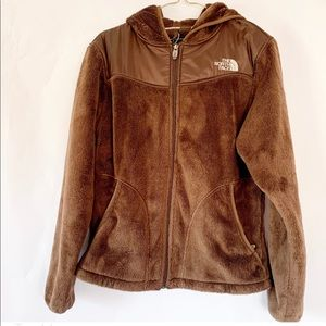 North Face Chocolate Brown Soft Fleece Jacket